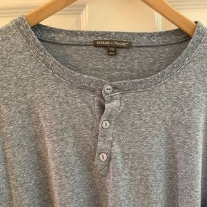 Threads 4 Thought Heathered Baby Blue Henley
